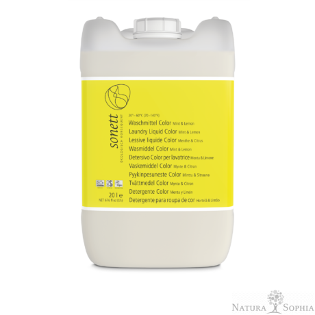 Sonett Folyékony mosószer színes ruhához - menta és citrom 20 liter